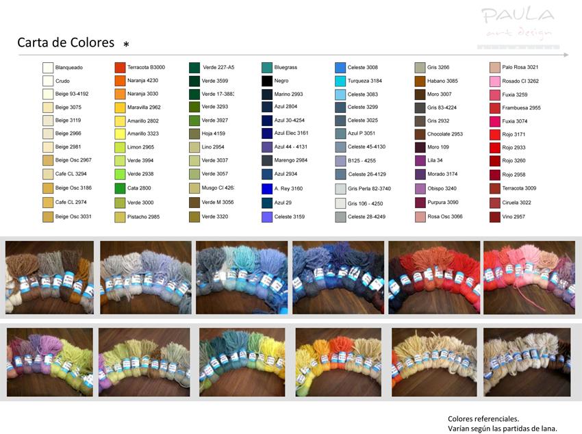 Paleta de Colores - Alfombras Paula